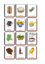 English Worksheet: Flashcards food and drink 3