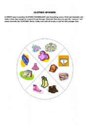 English Worksheets: clothes spinner