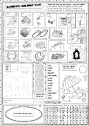 English Worksheet: Summer Holiday Fun