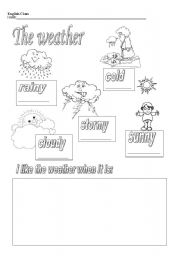 vocabulary about the weather and then draw their favourite weatherWeather Map For Kids Worksheets