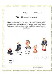 English Worksheets: abstract noun