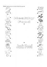 English teaching worksheets: Junk food