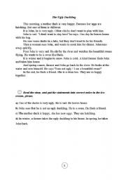 English Worksheets: ugly duckling2