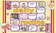 English Worksheets: DAILY ROUTINE BOARD GAME