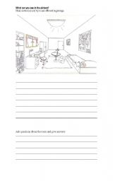 English Worksheets: A Room