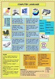 English Worksheet: computer language