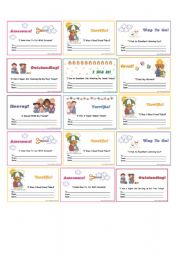 English Worksheet: certificates