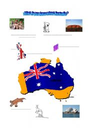 English Worksheet: Brainstorming about Australia