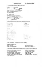 English Worksheet: Californication by Red Hot Chili Peppers