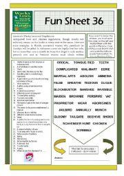 English Worksheets: Fun Sheet 36