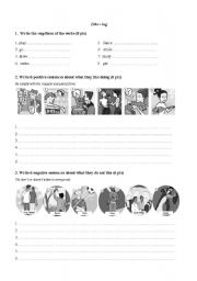 English Worksheet: Like+ing form