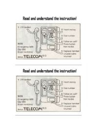 Telephone Instructions