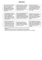 English Worksheets: Antarctica Contract