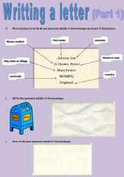 English Worksheets: Writing a letter (Part 1)