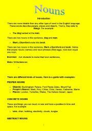 English Worksheets: Nouns