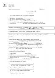 English Worksheets: unit 4 take action