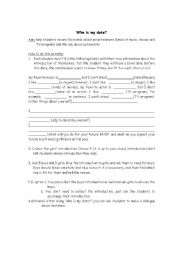 English Worksheets: who is my date?
