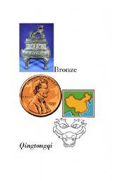 English Worksheets: chinese bronze word splash