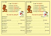 English Worksheets: SUPER FUN!!! PAIR- WORK TALK!!!
