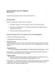 English Worksheets: Run On�s Answer Key