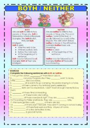 English Worksheets: BOTH / NEITHER