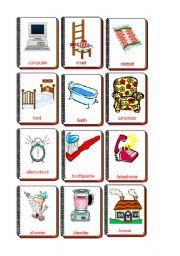 English Worksheet: Flashcards The house 1