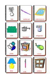 English Worksheet: Flashcards The house 2
