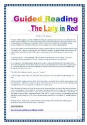English Worksheets: American Folklore Series: GUIDED READING & WRITING + DISCUSSION: GHOST story: COMPREHENSIVE LESSON (printer-friendly, 7 pages, over 30 TASKS). With KEY.