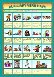 English Worksheets: Auxiliary Verb Have