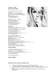 English Worksheet: Piece of Me by Britney Spears