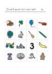 English Worksheets: circle blends