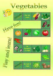 worksheet: Vegetables - board game