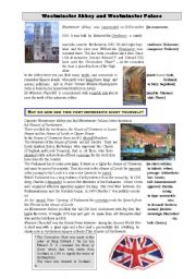 English Worksheets: Westminster Abbey and Westminster Palace