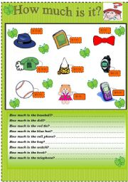 English Worksheets: How much is it???