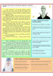 English Worksheets: Harry Potter and the degrees of the adjectives