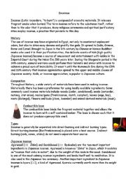 English Worksheets: Incense