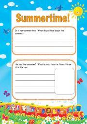 English Worksheets: Journal  (writing)