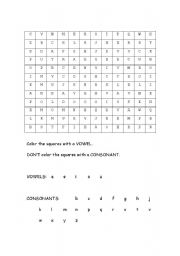 English Worksheets: Secret Picture (Happy Face - small)
