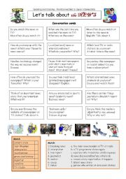 English Worksheet: Let�s talk about the NEWS