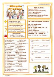 Simple Present Worksheet