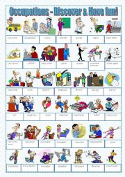 English Worksheet: Occupations - Discover and have fun!