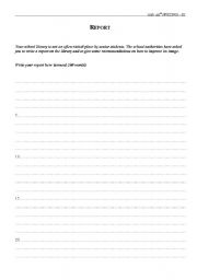 English Worksheets: Exam samples - Writing 4