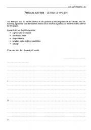 English Worksheets: Exam samples - Writing 6