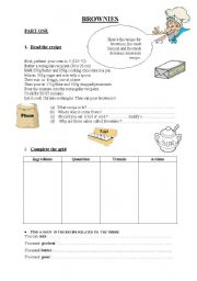 English Worksheets: How to make brownies