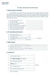 English Worksheets: workseet