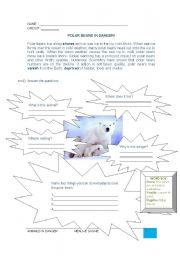 English Worksheets: Polar bears in danger