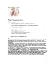English Worksheets: Respiratory problems