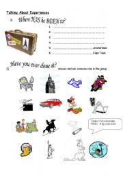 English Worksheets: Experiences: Have you ever...?