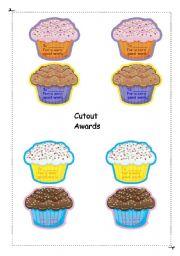 English worksheet: Awards cutouts