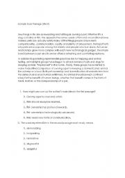 English Worksheets: argumentation text